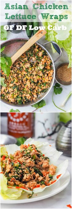 Have dinner on the table in 30 mins or less with these low carb high protein Asian chicken lettuce wraps which are brimming with vibrant flavors from the green onions, mint, cilantro and cucumbers. Bound to be your new favorite weeknight meal. Gluten-Free & Dairy Free. | avocadopesto.com