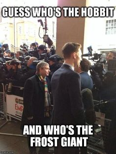 XD aw... The hobbit and the Frost Giant. Tom and Martin.