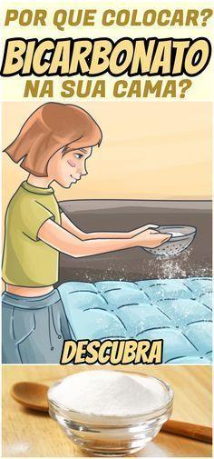 Jogar bicarbonato de sódio na cama pode parecer estranho, mas sabia que é muito importante? #bicarbonato #limpeza #limpa #colchão #cama #casa #dicas #truques #segredos