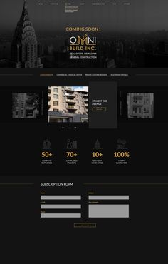 Luxury Graphic Design, Minimal Web Design, General Construction, My Cookbook, Real Estate Development, Best Wordpress Themes, Business Website, Web Design Inspiration, Website Template