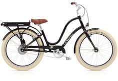 The Electra Townie Go!, a new balloon tire cruiser bike with electric assist functionality concealed in the rear hub.
