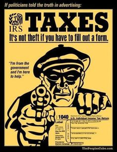 There is no law in existence that states that you have to pay taxes. The IRS is not a branch of the government but a private corporation and it has an offshore account holding your hard earned dollars.