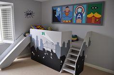 greatest idea for a little boy bedroom!