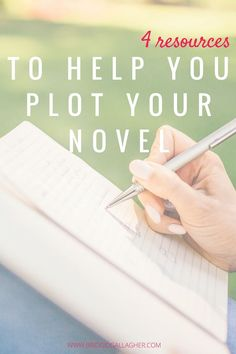 Before you sit down to write a book, start by plotting your novel. Click through for my favorite resources that will help you plot your book.