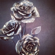 Blacksmithed roses