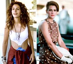 """Julia Robert's makeover in """"Pretty Woman"""" Julia Roberts, Richard Gere, Pretty Woman Film, Romantic Comedy Movies, Backless Bodysuit, My Fair Lady, Blonde Wig, Luxury Lingerie, 90s Fashion"""