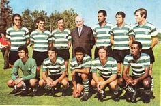 1971 Sporting Lisboa - laranjeira pedro gomes goncalves manaca marinho jose carlos damas chico nelson peres dinis