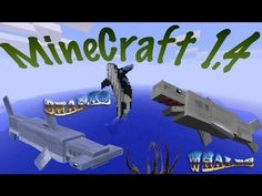 MineCraft 1.4.6 Ocean Life, Coral Reefs, Sharks, Whales, Dolphins, Fishing, Diving!