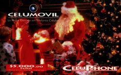 Tarjeta Celumovil,  Navidad, 90′s