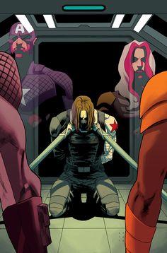 Thunderbolts - Bucky Barnes, Captain America, and Songbird by Kris Anka *
