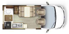 Small Camper Vans, Small Campers, Kombi Motorhome, Camper Bathroom, Rv Homes, Campervan Interior, Compact, Van Living, Camper Conversion