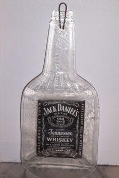 flattened bottle - jack daniels