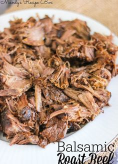 Crock Pot Balsamic Roast Beef | Cook this on low overnight and you won't believe how tender it is. Leave out the Worcestershire, and sub tamari for the soy sauce for Phase 2 (use rump roast), Phase 3, and H-Burn.