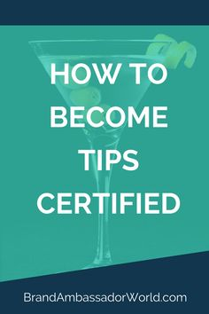 TIPS Certification   TIPS Certified   Become TIPS Certified   Serving Alcohol   Alcohol Training