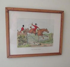 vintage framed H. Alken fox hunt print framed by RelativelyStable, $50.00