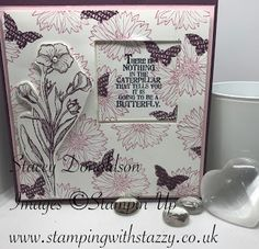 🙙 Butterflies & Flowers Card 🙚 Good Morning Everyone! I hope you are all well and those in the UK are enjoying the lovely wa. Butterfly Flowers, Butterflies, Good Morning Everyone, Stamping Up, Flower Cards, Have Fun, About Me Blog, Paper Crafts, Forget