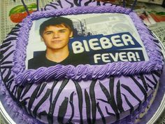 Justin Bieber cake i cant get rid of the fever