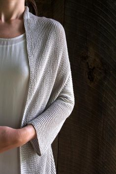 Folded Squares Cardigan || The Purl Bee