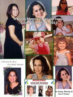 In Loving Memory of Laci Peterson, murdered by her husband when she was 8 months pregnant.