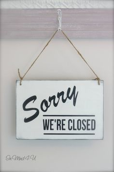 Business Sign Open/Closed Sign Custom Sign Wall Art by InMind4U