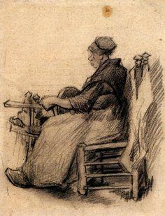Woman winding yarn, 1885 / Vincent van Gogh