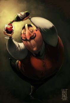 Guiseppe Picture  (2d, caricature, cartoon, garzon)