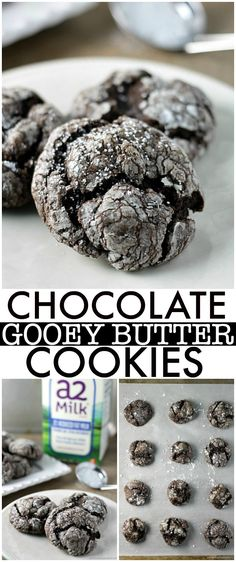 Chocolate Gooey Butter Cookies are light and pillowy and melt in your mouth! At only six ingredients, they just might be your new favorite cookie! | Persnickety Plates ad