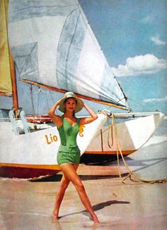 Swimwear for Mademoiselle magazine, 1959.