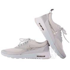 Women's Nike Air Max Thea Premium w/Swarovski Crystals details in Light Base Grey/Cool Grey/Metallic