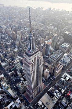 NYC. Bird's eye view over the Empire State Building
