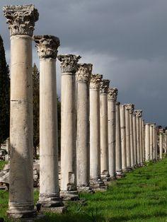 "When the Royal Princess calls on Kusadasi, I'll be taking the tour to Ephesus. ""portico columns in the Agora, Ephesus"" #royalprincess"