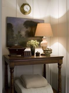 Phoebe Howard- love it all! The landscape, the lamp, boxes. Colors are perfect!