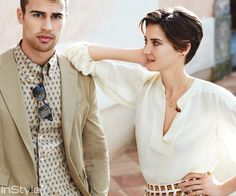 Shailene Woodley & Theo James Like You've Never Seen Them! - James in Band of Outsiders; Woodley in Carolina Herrera from #InStyle