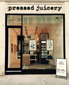 The California-cool juice brand has landed in Manhattan. @pressedjuicery #GoodFood