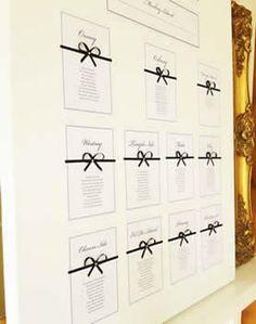Wedding Stationery. Table Plan