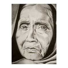 Illustration of old woman's face. Visit www.facebook.com/MHGDP for more examples of my work. ©MeganHedges