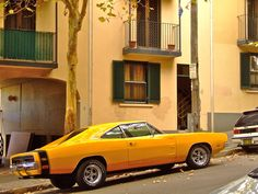 Dodge Charger The street and the car. My Dream Car, Dream Cars, Dodge Muscle Cars, 1969 Dodge Charger, Yellow Car, Dodge Chrysler, Sweet Cars, Us Cars, American Muscle Cars