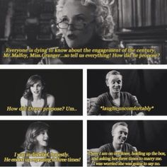 If somebody is going to end up shipping Dramione, Draco has to suddenly take on Tom Felton's personality.