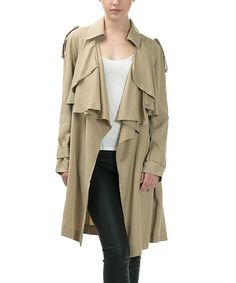 Look at this CQbyCQ Taupe Layered Trench Coat - Women on #zulily today!
