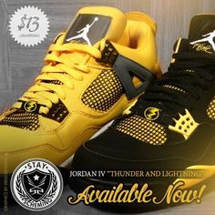 77085c369841f6 Our Lightning bolt lace accessories for your Jordan thunder and Jordan  Lightnings! A perfect match