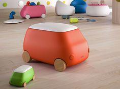 Boîte de rangement pour jouets en plastique à roulettes PLUST VAN by Plust