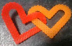 Valentine hama perler heart chain by Hamamia on deviantART