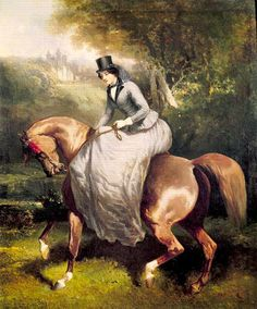 In the Swan's Shadow: Amazon (Horsewoman) in the Forest at Pierrefonds