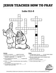 Each stanza of the Lord's Prayer is meaningful, help your kids go deeper into Luke with this crossword puzzle. Filled with creative questions this Lord's Prayer activity is perfect for your upcoming Luke 11 Sunday school lesson. Sunday School Crafts For Kids, Sunday School Activities, Sunday School Lessons, Bible Study For Kids, Bible Lessons For Kids, Kids Bible, Lords Prayer Crafts, School Prayer, Bible Stories For Kids