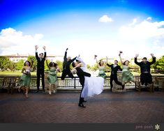 bridal party picture poses