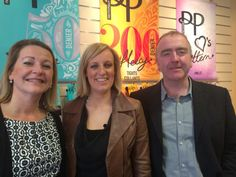 Steph with Jane, Pretty Polly's Marketing & Product Director, and Eugene, Pretty Polly's Sale Director.