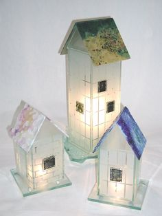 Custom Made Glass Houses by Julie McDonough Architectural Glass -- this might work with glass blocks