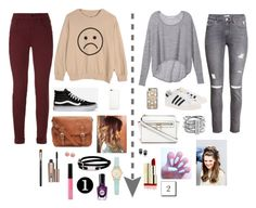 """""""1 or 2??"""" by sofiy112 ❤ liked on Polyvore featuring Victoria's Secret, H&M, J Brand, adidas Originals, Vans, Casetify, Apple, Michael Kors, Kate Spade and McQ by Alexander McQueen"""