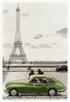 Paris Eiffel Tower Cross Stitch Kit