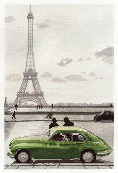 Paris Eiffel Tower Cross Stitch Kit